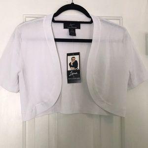 Women's White Bolero Jacket.NWT.Sz:M